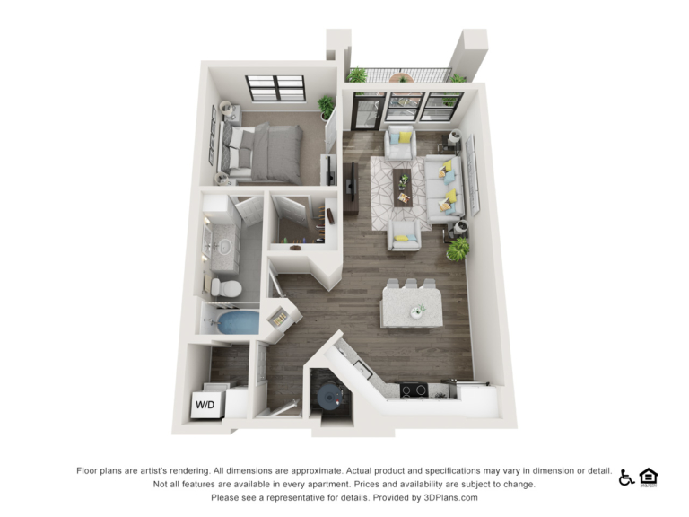A1 floor plan - The Lodge at Hamlin apartments in Winter Garden FL