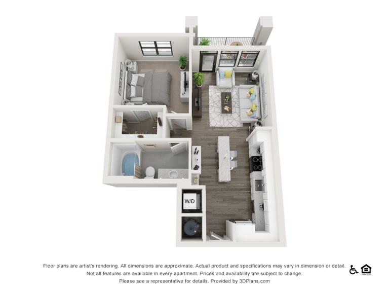 A2 floor plan - The Lodge at Hamlin apartments in Winter Garden FL