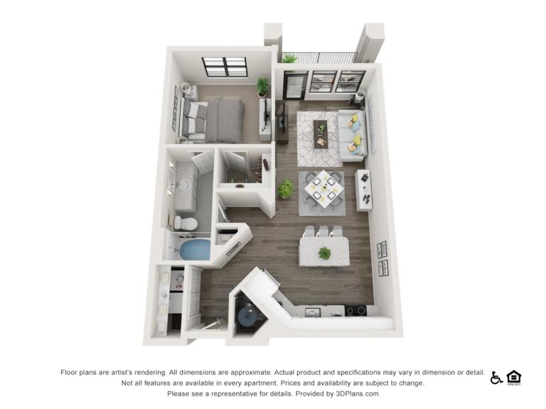A3 floor plan - The Lodge at Hamlin apartments in Winter Garden FL
