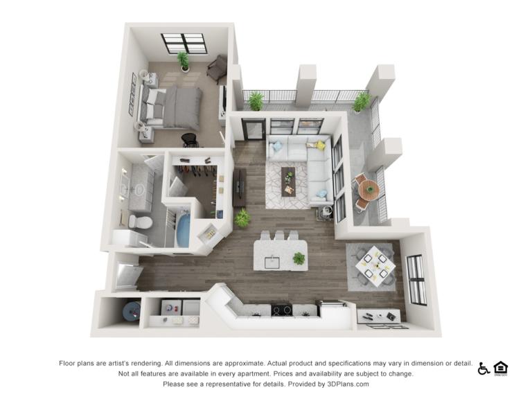 A4 floor plan - The Lodge at Hamlin apartments in Winter Garden FL