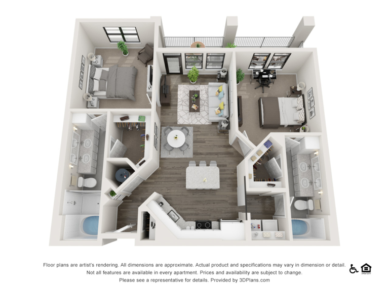 B1 floor plan - The Lodge at Hamlin apartments in Winter Garden FL