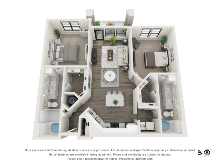 B3 floor plan - The Lodge at Hamlin apartments in Winter Garden FL