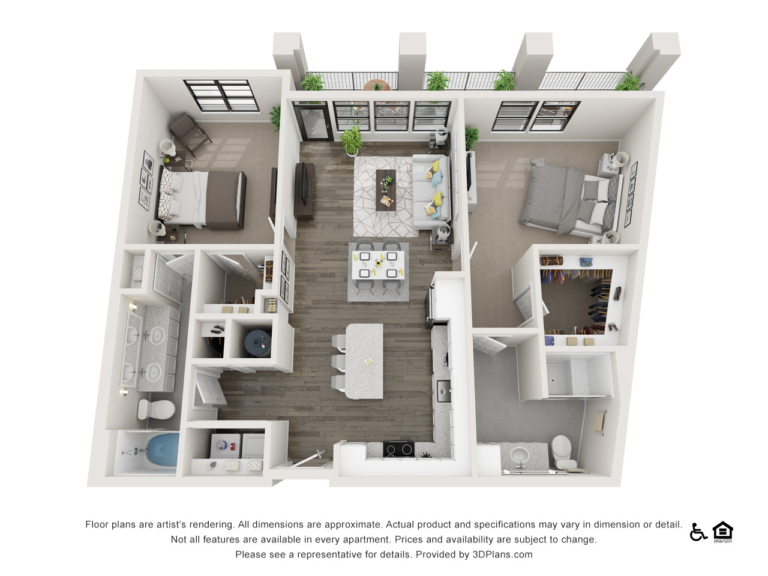 B4 floor plan - The Lodge at Hamlin apartments in Winter Garden FL