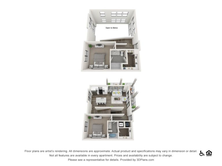 B5 floor plan - The Lodge at Hamlin apartments in Winter Garden FL