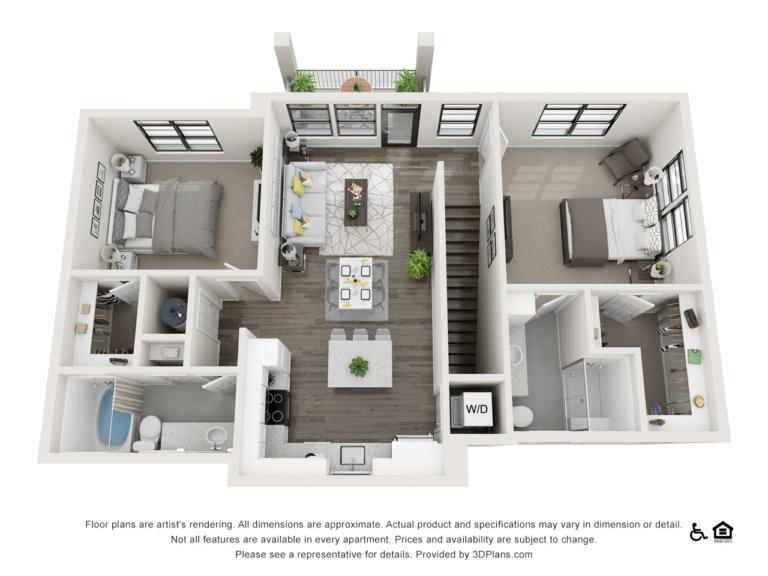 B7 floor plan - The Lodge at Hamlin apartments in Winter Garden FL