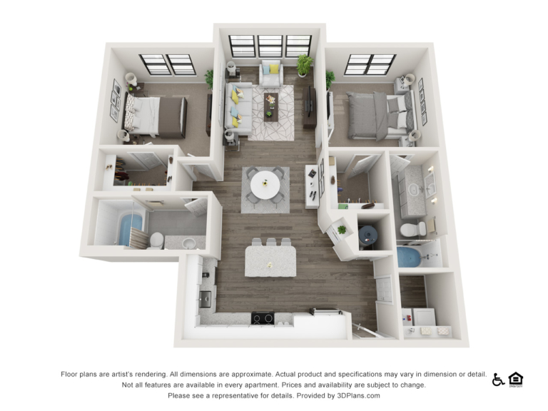 B8 floor plan - The Lodge at Hamlin apartments in Winter Garden FL