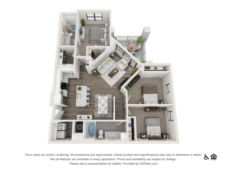 C1 floor plan - The Lodge at Hamlin apartments in Winter Garden FL