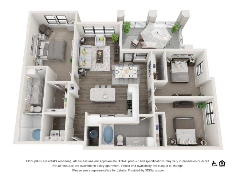 C2 floor plan - The Lodge at Hamlin apartments in Winter Garden FL